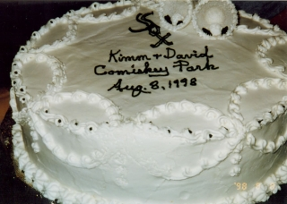 The Fletcher wedding cake.