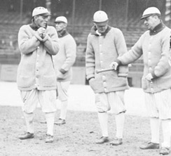 Buck on the field in 1913.
