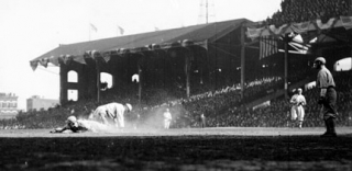 Comiskey Park I third base in 1917.