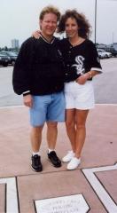 David and Kimm Fletcher on their wedding day.