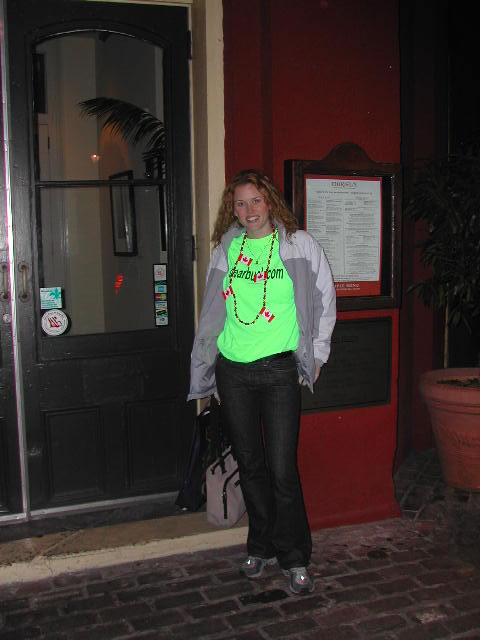 Amber in New Orleans for the 2003 MLB meetings.