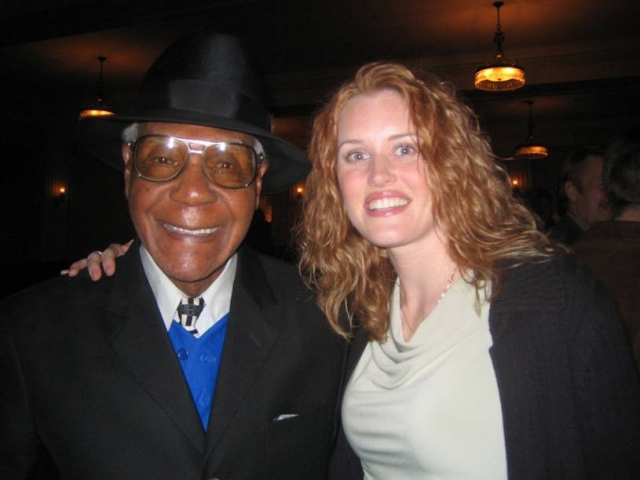 Negro League star Buck O'Neil and Amber Buchanan.