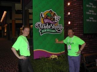 Amber Buchanan and Dr. David Fletcher at the 2003 MLB meetings.
