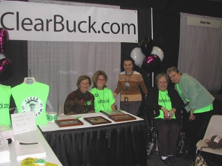 The ClearBuck.com booth at the 2004 White Sox FanFest.