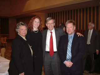 Linda Williamson, Amber Buchanan, Commissioner Bud Selig and Dr. Fletcher at the Economic Club of Chicago luncheon.