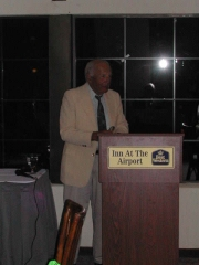 Eliot Asinof is the keynote speaker at the 2004 Nine: A Journal of Baseball History Conference in Arizona.