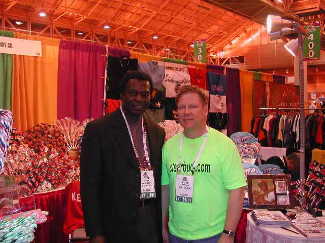 Hall of Fame legend Lou Brock with Dr. David Fletcher.