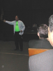 Joel Daly performs as Buck Weaver's lawyer Clarence Darrow at the 2003 Lincoln Chicago Inn of Court Jackson/Weaver retrial.