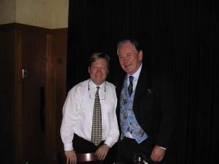 Dr. David Fletcher andWLS-TV(ABC) news anchor Joel Daly.