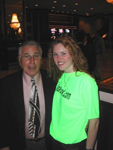 Florida Marlins World Series manager Jack McKeon and Amber Buchanan.