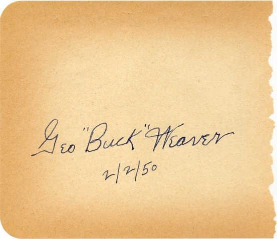 Buck's autograph.