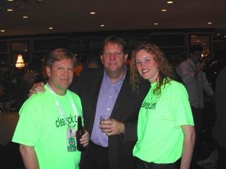 Dr. Fletcher, Cubs GM Jim Hendry, and Amber Buchanan.