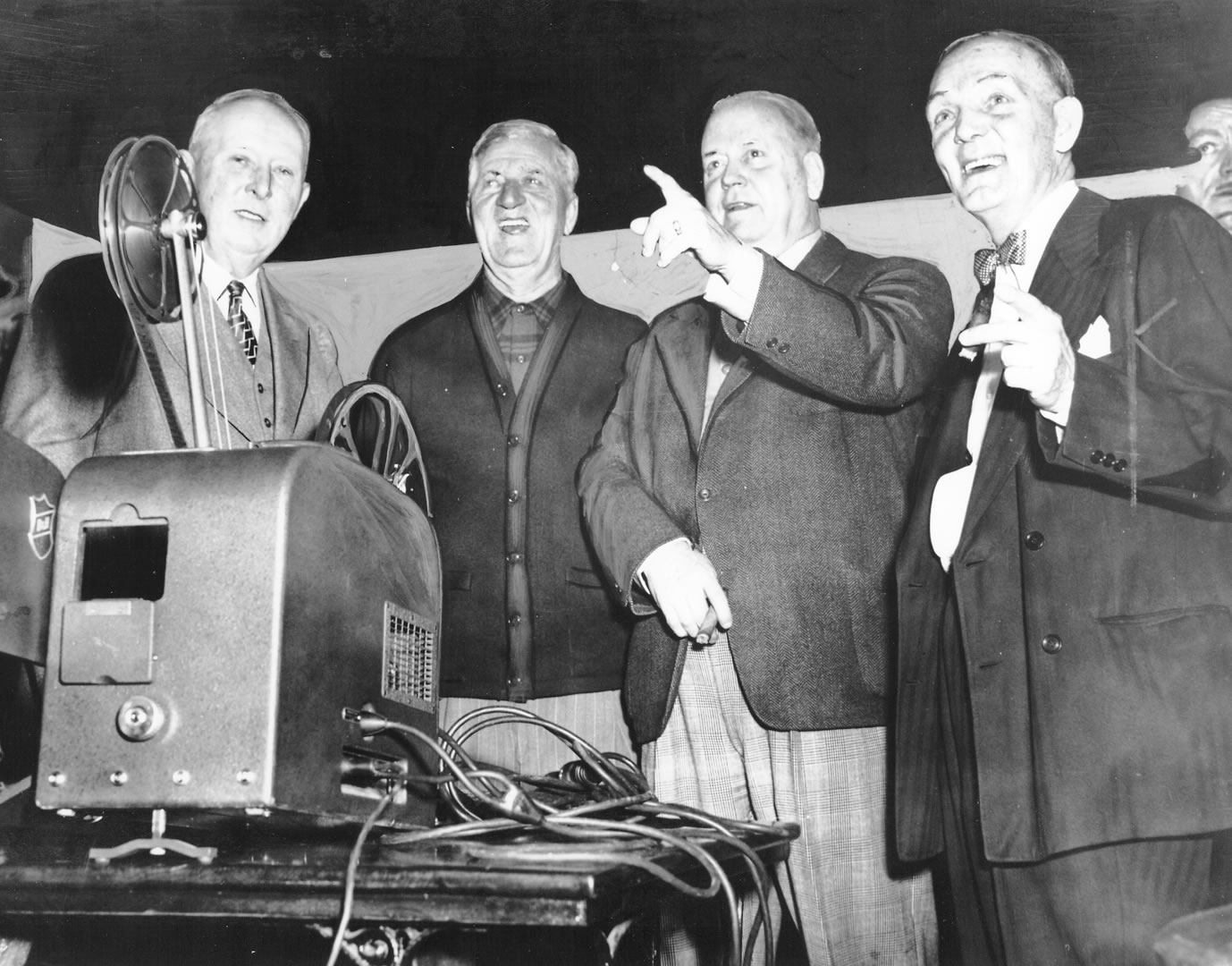 Buck (far R) during his roast.