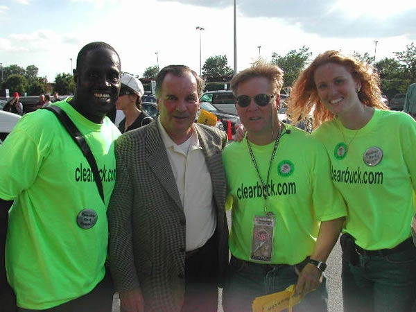 (L to R) Ziff Sistrunk, Mayor Daley, Dr. David Fletcher, Amber Buchanan.